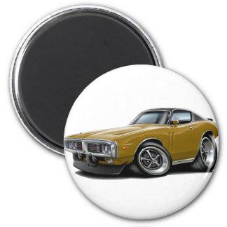 1973-74 Charger Gold-Black Top Car Magnet