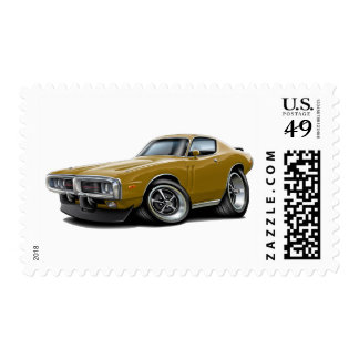 1973-74 Charger Gold Car Postage
