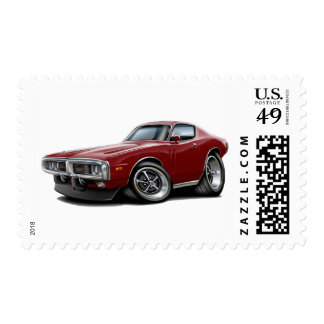 1973-74 Charger Maroon Car Postage
