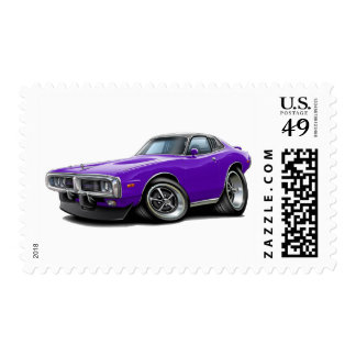 1973-74 Charger Purple-Black Opera Top Car Postage