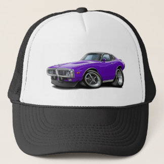 1973-74 Charger Purple-Black Opera Top Car Trucker Hat