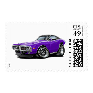 1973-74 Charger Purple-Black Top Car Postage
