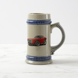 1973-74 Charger Red Car Beer Stein