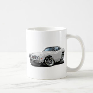 1973-74 Charger White-Black Opera Top Car Coffee Mug