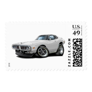 1973-74 Charger White-Black Opera Top Car Postage