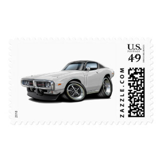 1973-74 Charger White-Black Top Car Postage
