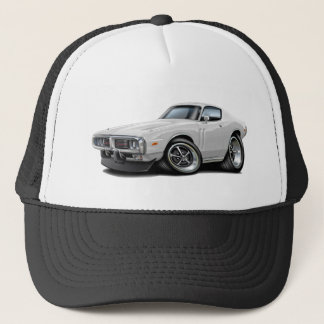 1973-74 Charger White Car Trucker Hat