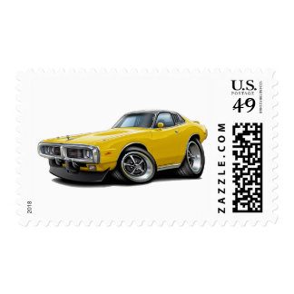 1973-74 Charger Yellow-Black Opera Top Car Postage