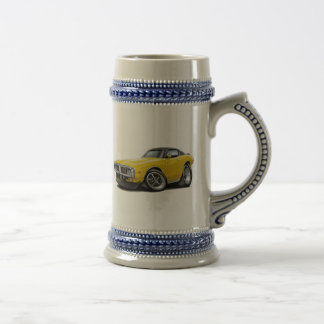 1973-74 Charger Yellow-Black Top Car Beer Stein
