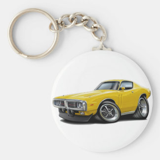 1973-74 Charger Yellow Car Keychain