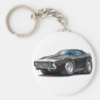 1973-74 Javelin Black-White Car Keychain