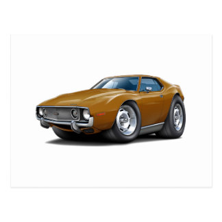1973-74 Javelin Brown Car Postcard