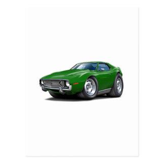 1973-74 Javelin Green Car Postcard