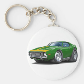 1973-74 Javelin Green-Gold Car Keychain