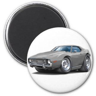 1973-74 Javelin Grey Car 2 Inch Round Magnet