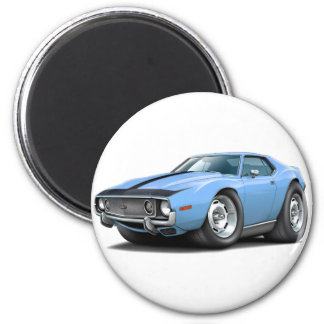 1973-74 Javelin Lt Blue-Black Car 2 Inch Round Magnet