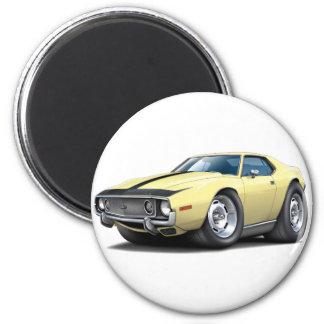 1973-74 Javelin Lt Yellow-Black Car 2 Inch Round Magnet