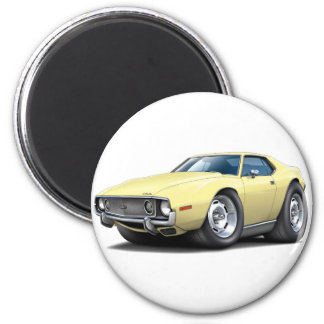 1973-74 Javelin Lt Yellow Car 2 Inch Round Magnet