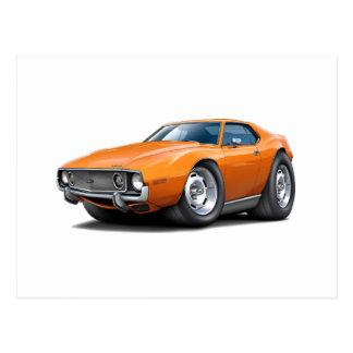1973-74 Javelin Orange Car Postcard