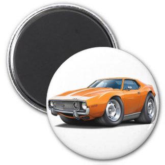 1973-74 Javelin Orange-White Car 2 Inch Round Magnet