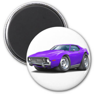 1973-74 Javelin Purple Car 2 Inch Round Magnet
