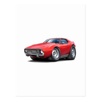 1973-74 Javelin Red Car Postcard