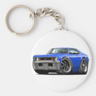 1973-74 Nova Blue Car Keychain