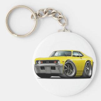 1973-74 Nova Yellow Car Keychain