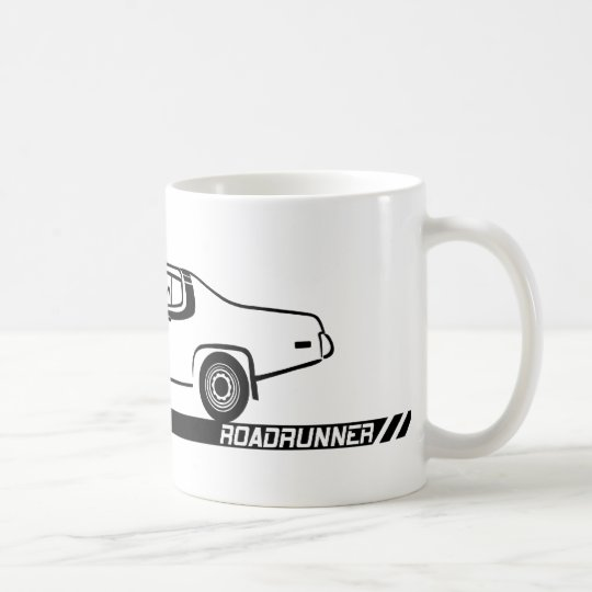 1973-74 Roadrunner Black Car Coffee Mug