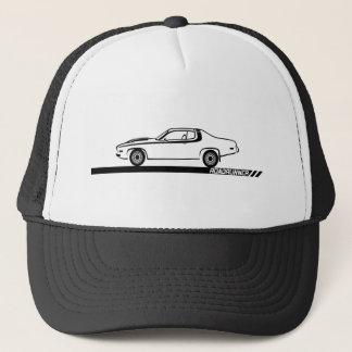 1973-74 Roadrunner Black Car Trucker Hat