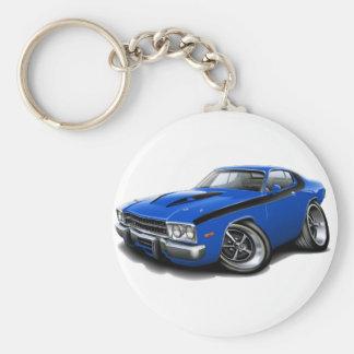 1973-74 Roadrunner Blue-Black Car Keychain