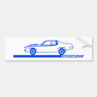 1973-74 Roadrunner Blue Car Bumper Sticker