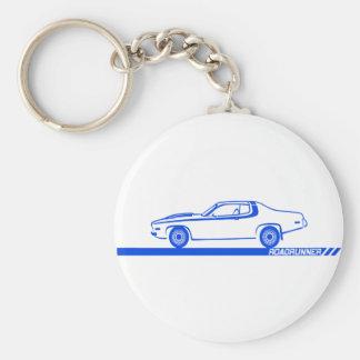 1973-74 Roadrunner Blue Car Keychain