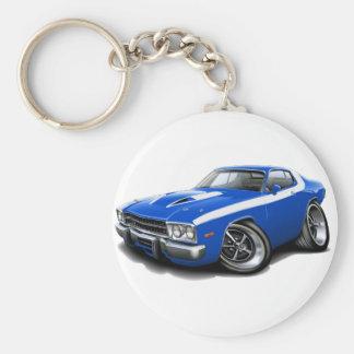 1973-74 Roadrunner Blue-White Car Keychain