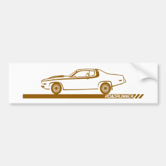 1973-74 Roadrunner Brown Car Bumper Sticker