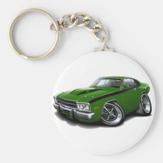 1973-74 Roadrunner Green-Black Car Keychain