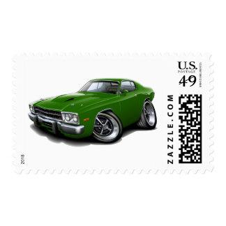1973-74 Roadrunner Green Car Postage