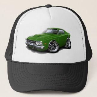 1973-74 Roadrunner Green Car Trucker Hat