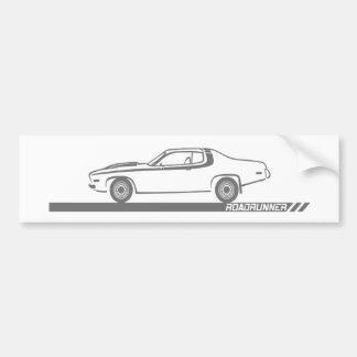 1973-74 Roadrunner Grey Car Bumper Sticker