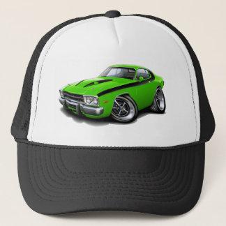 1973-74 Roadrunner Lime-Black Car Trucker Hat