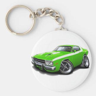 1973-74 Roadrunner Lime-White Car Keychain