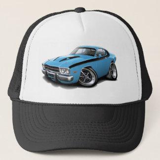 1973-74 Roadrunner Lt Blue-Black Car Trucker Hat
