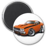 1973-74 Roadrunner Orange-Black Car Fridge Magnet