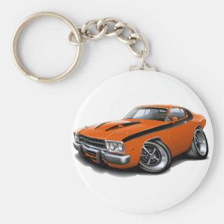 1973-74 Roadrunner Orange-Black Car Keychain
