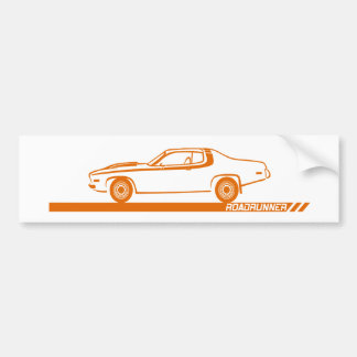 1973-74 Roadrunner Orange Car Bumper Sticker