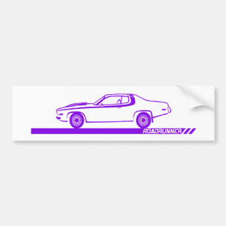 1973-74 Roadrunner Purple Car Bumper Sticker