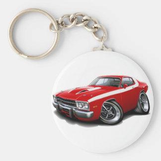 1973-74 Roadrunner Red-White Car Keychain