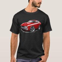 1973-74 Roadrunner Red-White Car T-Shirt