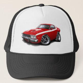 1973-74 Roadrunner Red-White Car Trucker Hat
