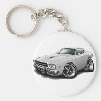 1973-74 Roadrunner White Car Keychain